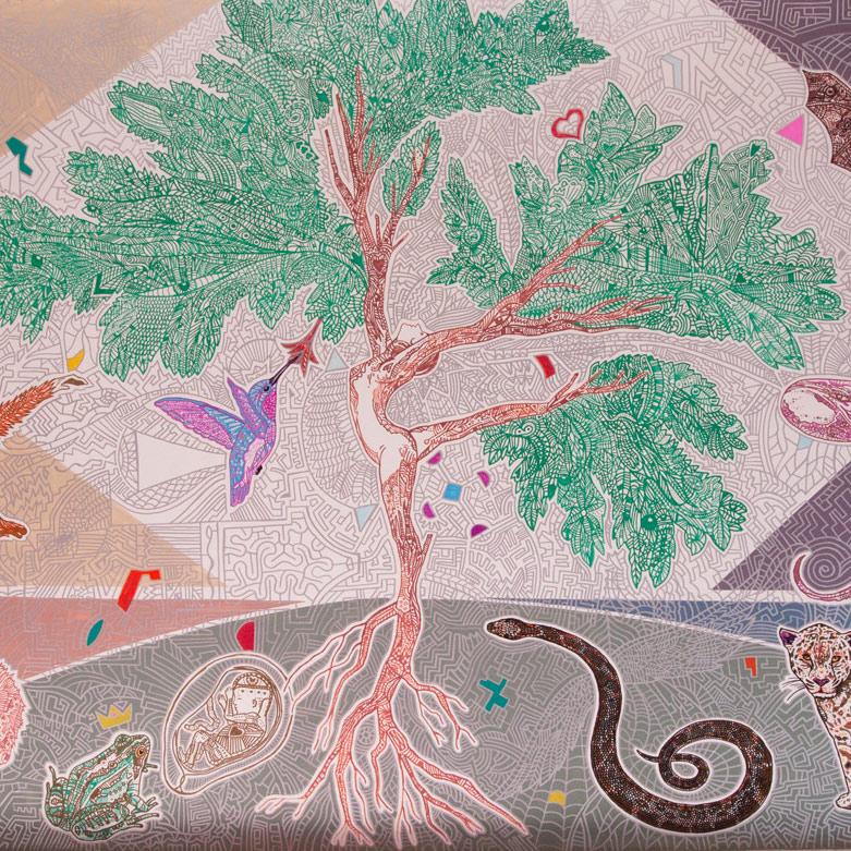 Mural for Cafe Gratitude Larchmont